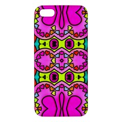 Love Hearths Colourful Abstract Background Design Apple Iphone 5 Premium Hardshell Case