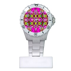 Love Hearths Colourful Abstract Background Design Plastic Nurses Watch