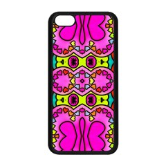 Love Hearths Colourful Abstract Background Design Apple iPhone 5C Seamless Case (Black)