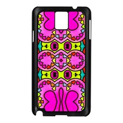 Love Hearths Colourful Abstract Background Design Samsung Galaxy Note 3 N9005 Case (Black)