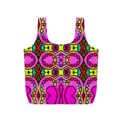 Love Hearths Colourful Abstract Background Design Full Print Recycle Bags (S)