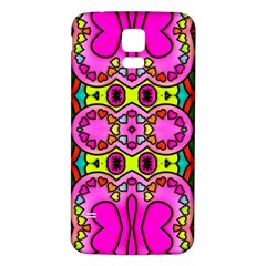 Love Hearths Colourful Abstract Background Design Samsung Galaxy S5 Back Case (White)