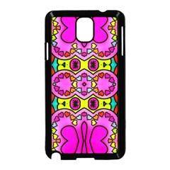 Love Hearths Colourful Abstract Background Design Samsung Galaxy Note 3 Neo Hardshell Case (Black)