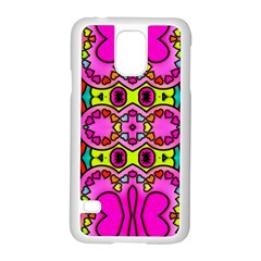 Love Hearths Colourful Abstract Background Design Samsung Galaxy S5 Case (White)