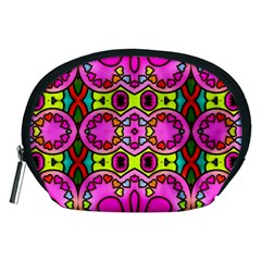 Love Hearths Colourful Abstract Background Design Accessory Pouches (Medium)
