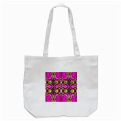 Love Hearths Colourful Abstract Background Design Tote Bag (White)