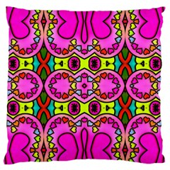 Love Hearths Colourful Abstract Background Design Large Flano Cushion Case (One Side)