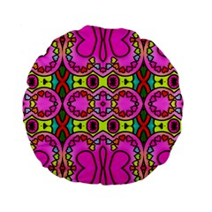 Love Hearths Colourful Abstract Background Design Standard 15  Premium Flano Round Cushions