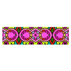 Love Hearths Colourful Abstract Background Design Satin Scarf (Oblong)