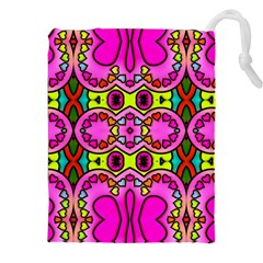 Love Hearths Colourful Abstract Background Design Drawstring Pouches (XXL)
