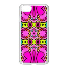 Love Hearths Colourful Abstract Background Design Apple Iphone 7 Seamless Case (white)