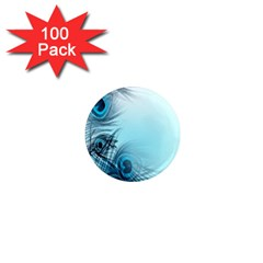 Feathery Background 1  Mini Magnets (100 pack)
