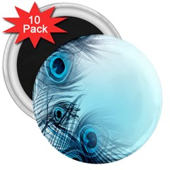 Feathery Background 3  Magnets (10 pack)