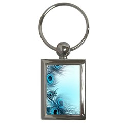 Feathery Background Key Chains (Rectangle)