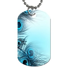 Feathery Background Dog Tag (Two Sides)