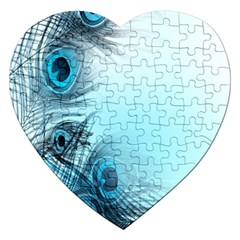 Feathery Background Jigsaw Puzzle (heart)