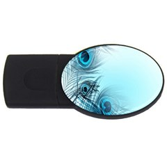 Feathery Background Usb Flash Drive Oval (4 Gb)