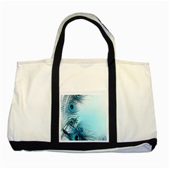 Feathery Background Two Tone Tote Bag