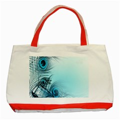Feathery Background Classic Tote Bag (Red)