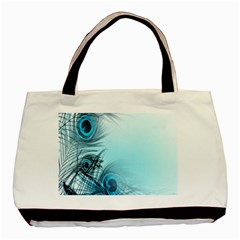 Feathery Background Basic Tote Bag (Two Sides)