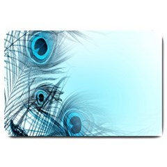Feathery Background Large Doormat