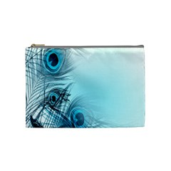 Feathery Background Cosmetic Bag (Medium)