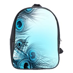 Feathery Background School Bags(large)