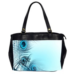 Feathery Background Office Handbags (2 Sides)