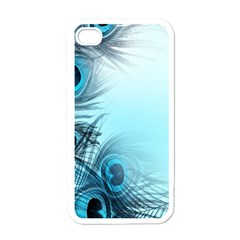 Feathery Background Apple iPhone 4 Case (White)