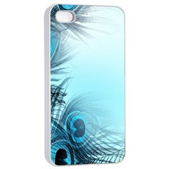 Feathery Background Apple iPhone 4/4s Seamless Case (White)