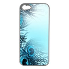 Feathery Background Apple iPhone 5 Case (Silver)