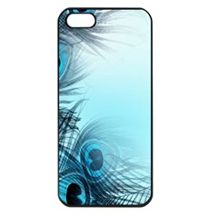 Feathery Background Apple iPhone 5 Seamless Case (Black)