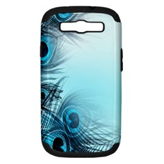 Feathery Background Samsung Galaxy S III Hardshell Case (PC+Silicone)
