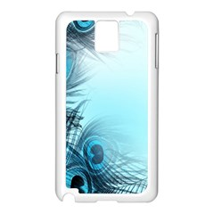 Feathery Background Samsung Galaxy Note 3 N9005 Case (White)