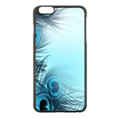 Feathery Background Apple Iphone 6 Plus/6s Plus Black Enamel Case
