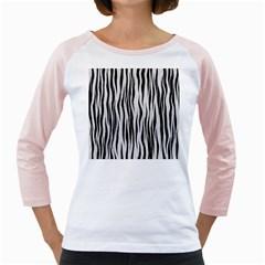 Black White Seamless Fur Pattern Girly Raglans