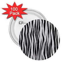 Black White Seamless Fur Pattern 2.25  Buttons (100 pack)