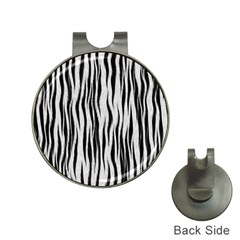 Black White Seamless Fur Pattern Hat Clips with Golf Markers