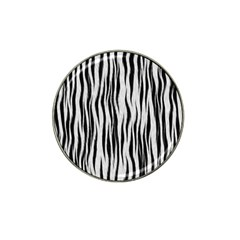 Black White Seamless Fur Pattern Hat Clip Ball Marker (4 pack)