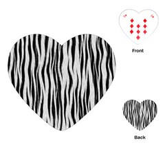 Black White Seamless Fur Pattern Playing Cards (Heart)
