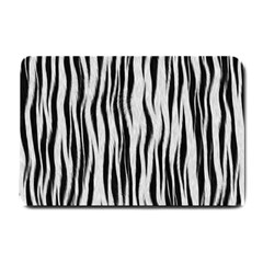Black White Seamless Fur Pattern Small Doormat