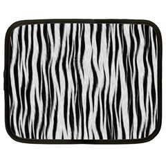 Black White Seamless Fur Pattern Netbook Case (xxl)