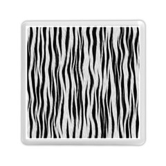 Black White Seamless Fur Pattern Memory Card Reader (square)