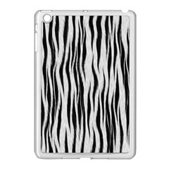 Black White Seamless Fur Pattern Apple Ipad Mini Case (white)
