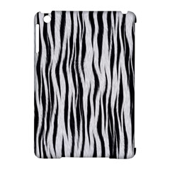 Black White Seamless Fur Pattern Apple iPad Mini Hardshell Case (Compatible with Smart Cover)