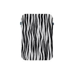 Black White Seamless Fur Pattern Apple iPad Mini Protective Soft Cases