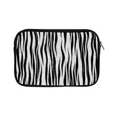 Black White Seamless Fur Pattern Apple iPad Mini Zipper Cases