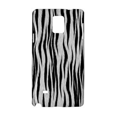 Black White Seamless Fur Pattern Samsung Galaxy Note 4 Hardshell Case