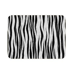 Black White Seamless Fur Pattern Double Sided Flano Blanket (Mini)