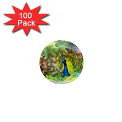 Peacock Digital Painting 1  Mini Magnets (100 Pack)